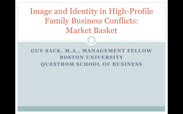IMAGE AND IDENTITY IN HIGH-PROFILE FAMILY BUSINESS CONFLICTS: MARKET BASKET