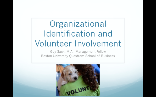 ORGANIZATIONAL IDENTIFICATION AND VOLUNTEER INVOLVEMENT