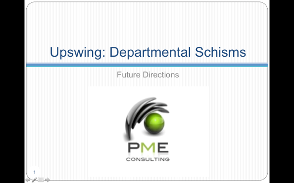 UPSWING: DEPARTMENTAL SCHISMS